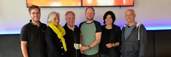 Spendenübergabe Cineplex Dreimann
